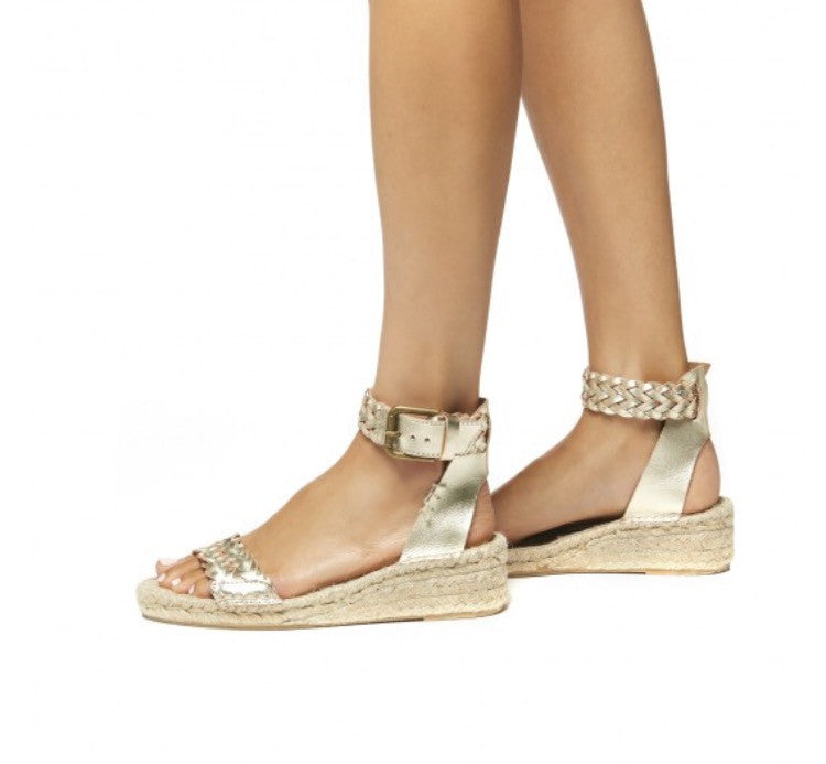 Soludos - Woven Leather Demi Wedges - CLEARANCE