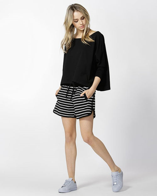 BETTY BASICS - Black/Ivory Kendall Short