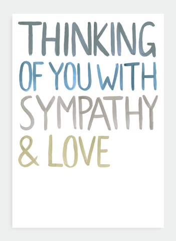 greetings card thinking of you with sympathy love gus fannie