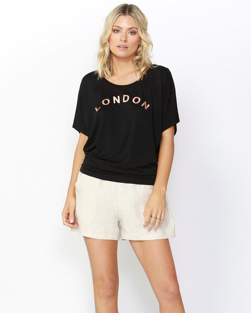 BETTY BASICS - London Black Maui Tee