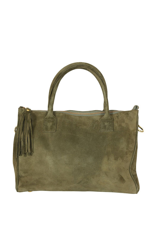 LIVE LIKE LIL - Suede Khaki Morgan Bag