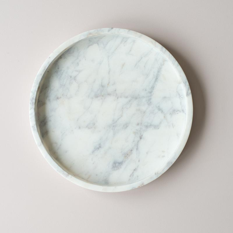 NEL LUSSO - 30cm Round Marble Tray
