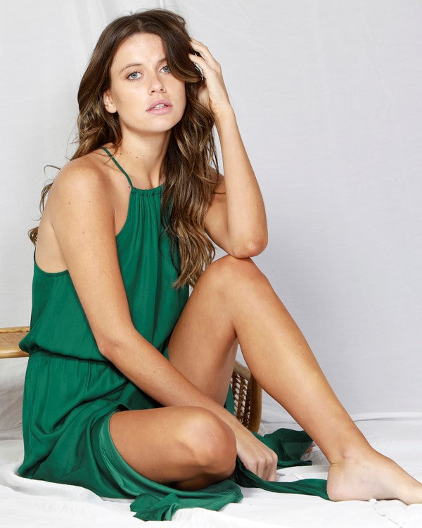 FATE & BECKER - Emerald Naples Halter neck dress