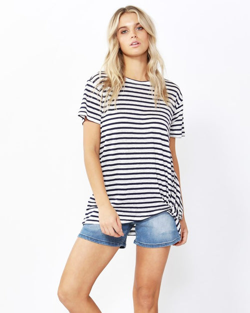 BETTY BASICS - Ink/White Stripe Phoenix Tee