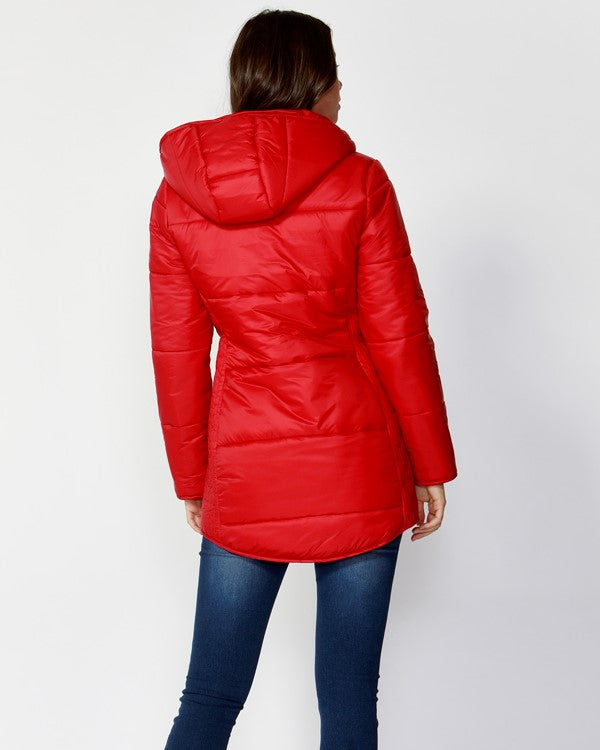 BETTY BASICS - Lava Ashton Long Puffer Jacket