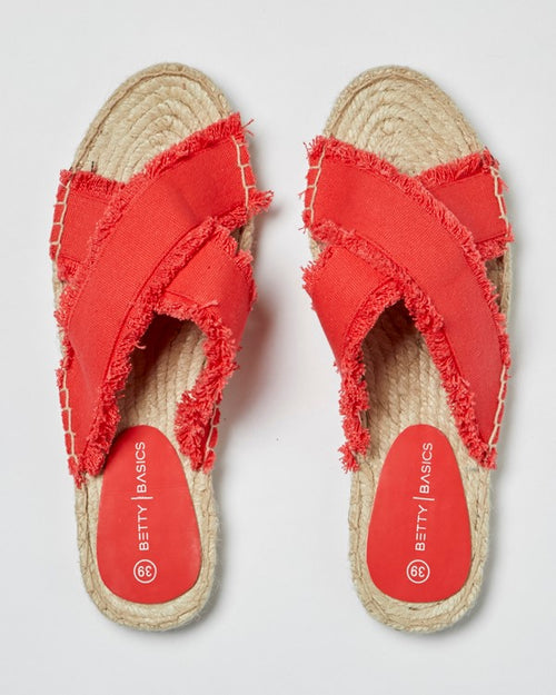 BETTY BASICS - Bold Red Seeker Espadrille Slide