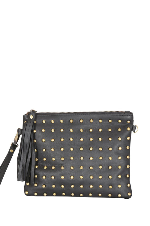 LIVE LIKE LIL - Riley Black Leather Bag with Studs