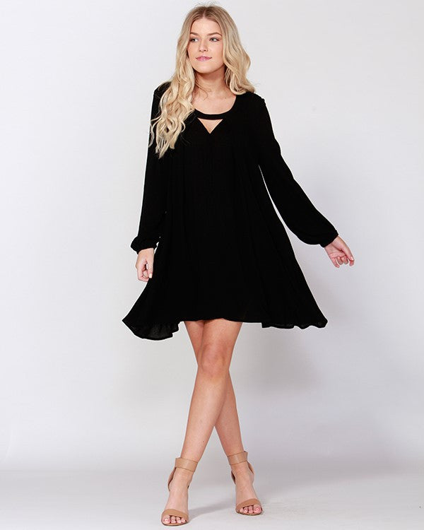 Sass - Black Rimes Dress - CLEARANCE