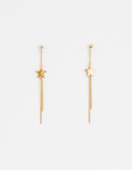 STELLA + GEMMA - Gold Star Drop Earrings