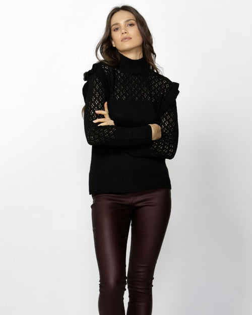 FATE+BECKER - Sabirah Black Knit Top