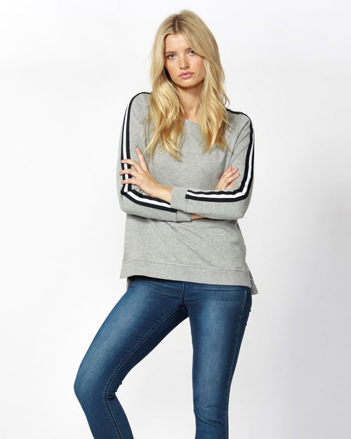BETTY BASICS - Silver Marle Harley Sweater