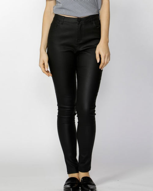 FATE + BECKER - Black Ynez Coated Jeans