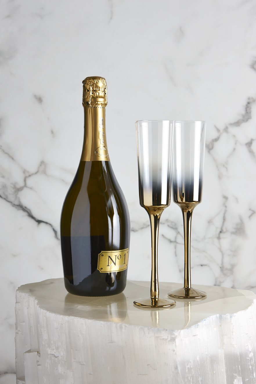 Nel Lusso - Cariso Gold Champagne Flutes - set of 4