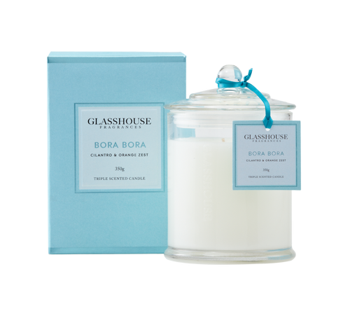 GLASSHOUSE - Bora Bora 350g Candle