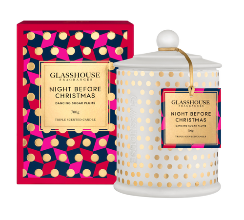 GLASSHOUSE - 700g Night Before Christmas Limited Edition Candle