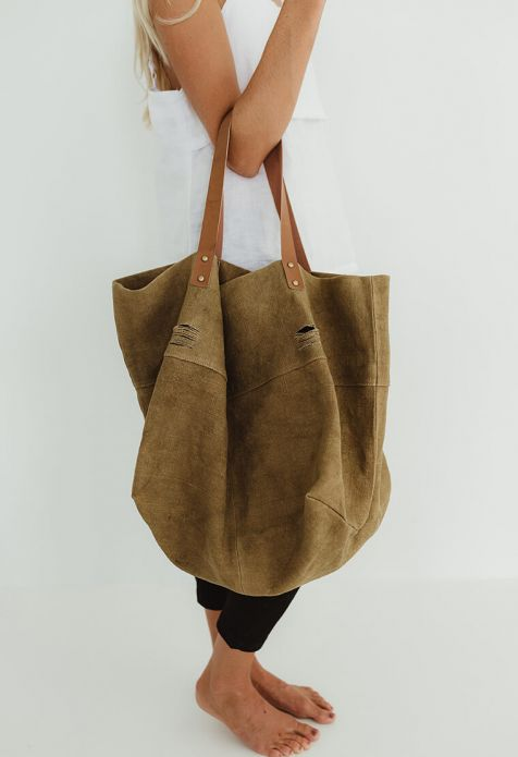 HUMIDITY - Khaki Canvas Slouch Bag