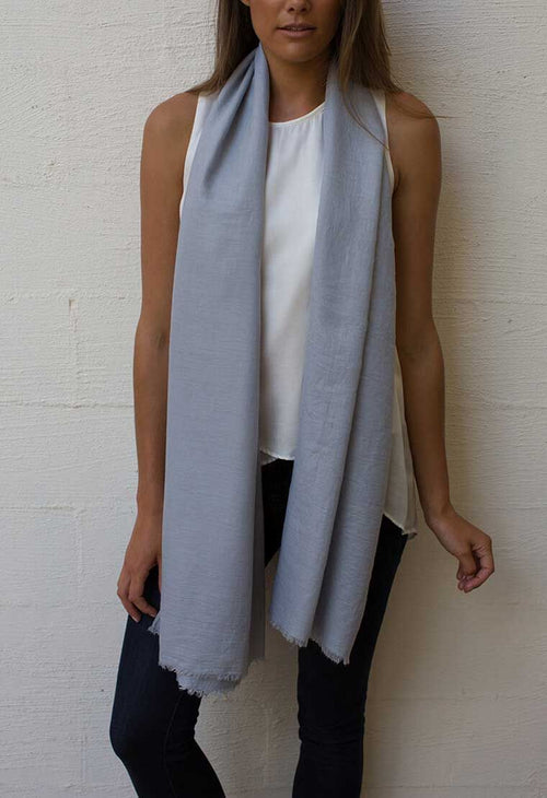 HUMIDITY - Silver Everyday Scarf