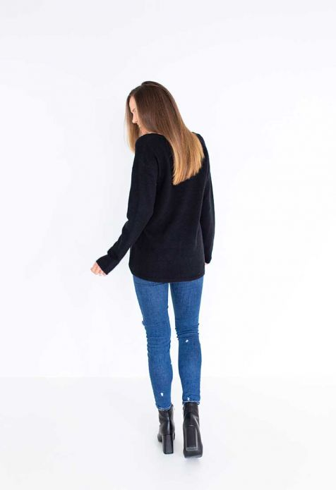 HUMIDITY - Black Jessie Sweater