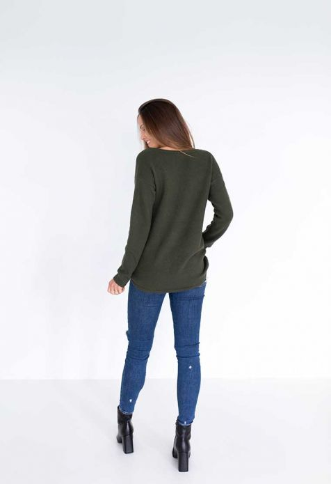 HUMIDITY - Khaki Jessie Sweater