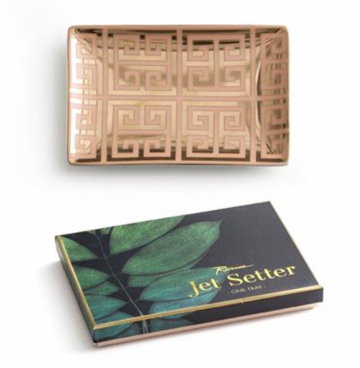 JET SETTER PINK & GOLD TRAY