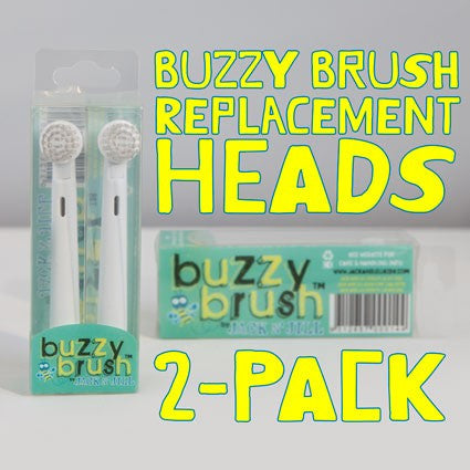 Jack n' Jill - Buzzy Brush Replacement Heads - 2 pack