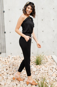 Arm And A Leg Jumpsuit In Black