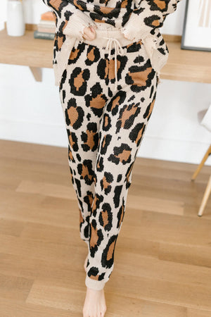 Chasing Sleep Lounge Joggers in Leopard