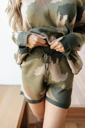 Chasing Sleep Lounge Shorts in Camo