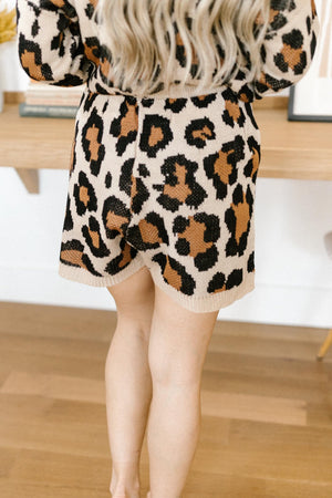 Chasing Sleep Lounge Shorts in Leopard
