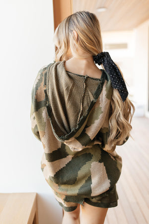 Chasing Sleep Lounge Top in Camo