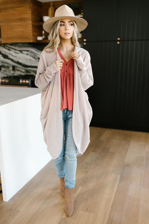 Cozy Cardi In Taupe