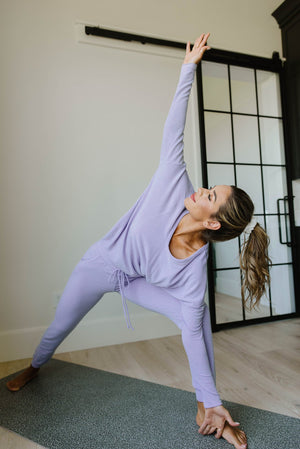 Lounging In Color Joggers In Lavender