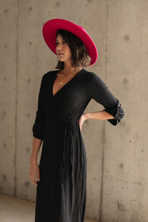 Reckless Abandon Dress In Black