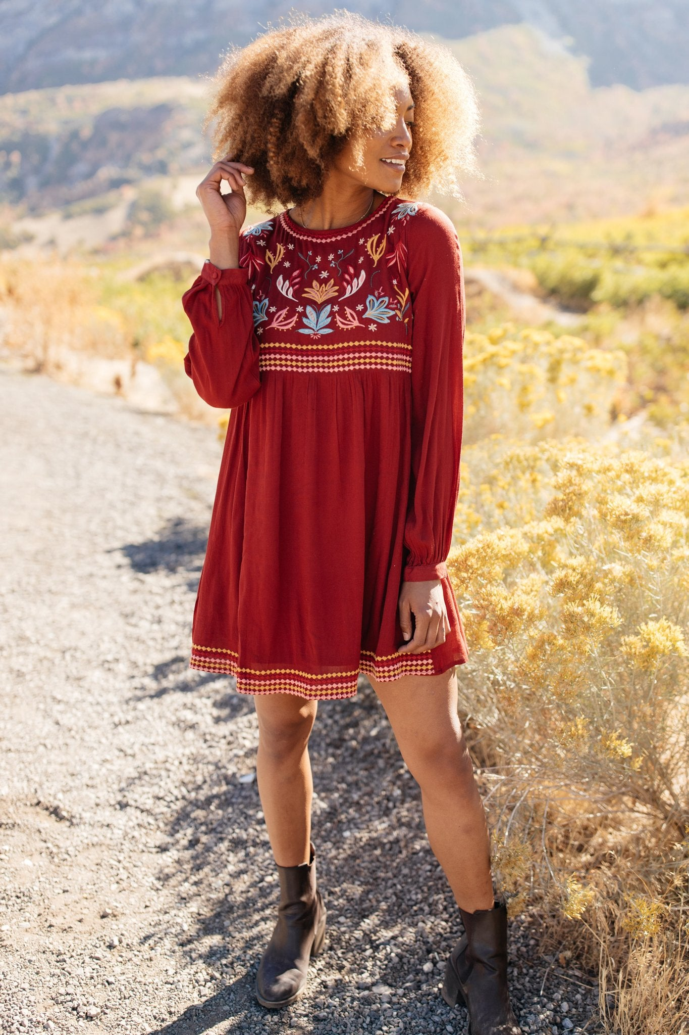 The Fall Embroidery Dress