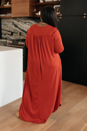 The Melanie Maxi Dress in Rust