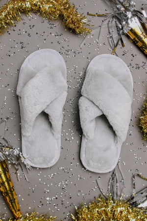 Toasty But Mostly Cozy Gray Slippers