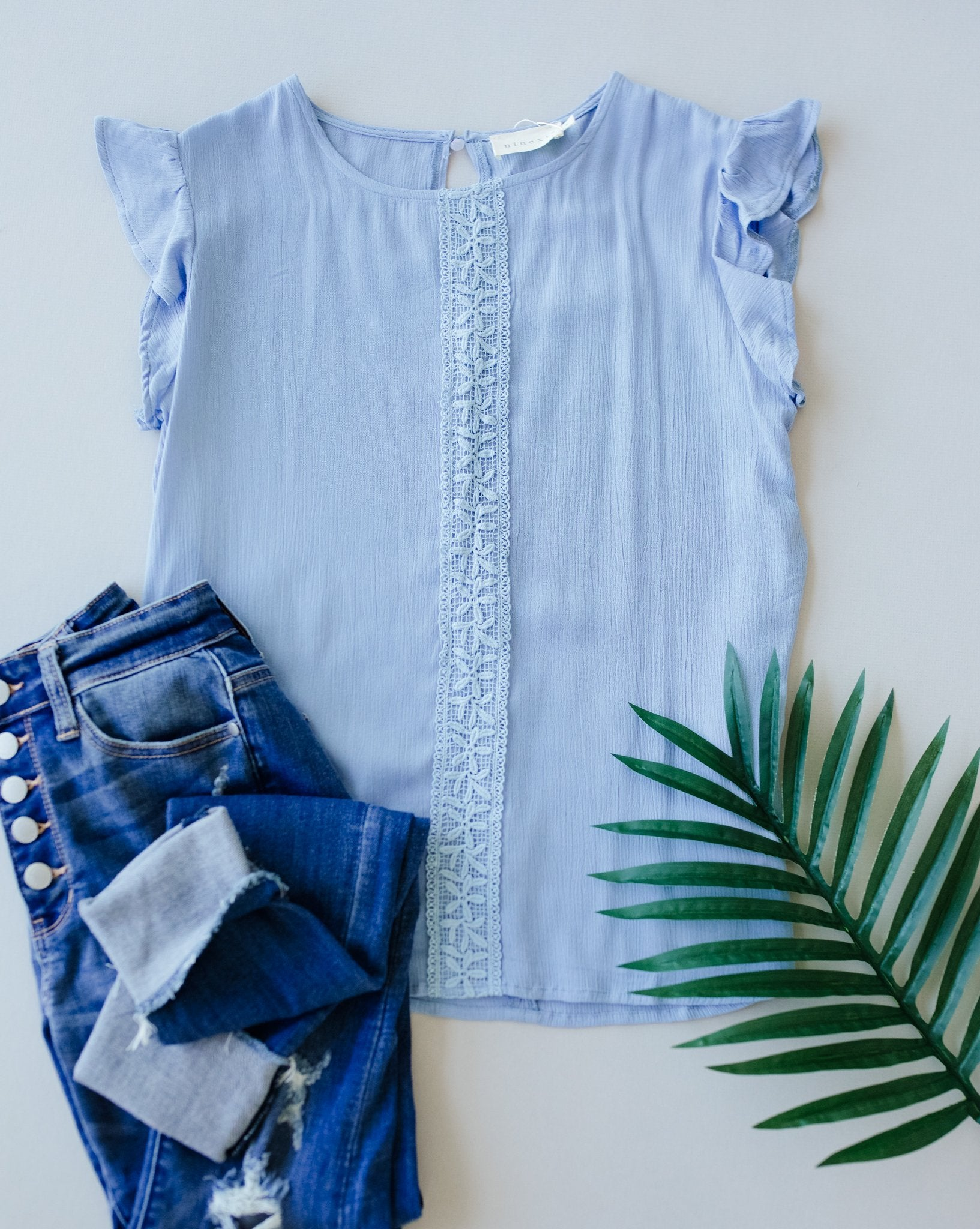 Pretty Cornflower Blouse