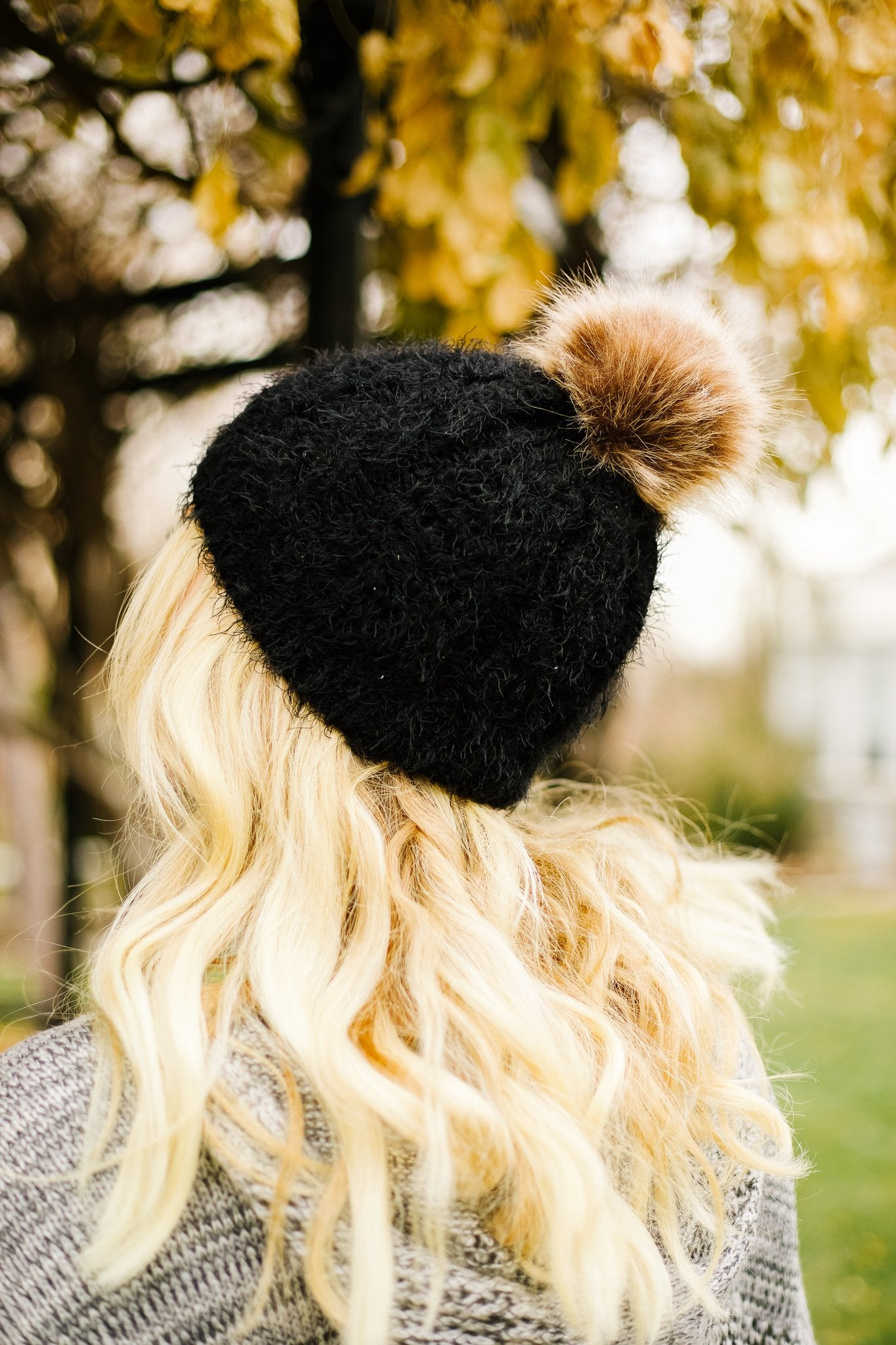 What The Fuzz Beanie In Black