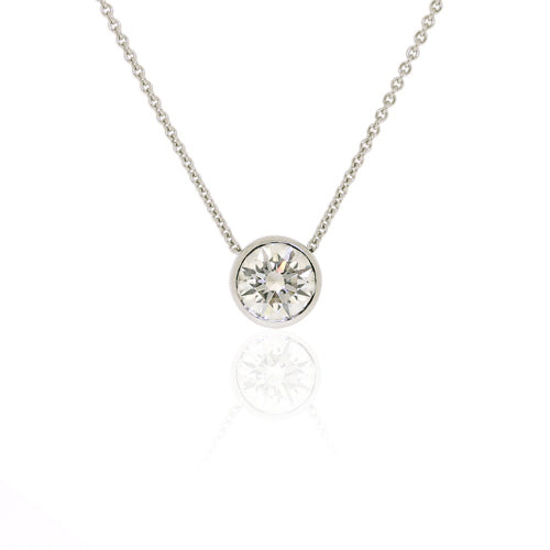 Brilliant Diamond White Gold Pendant