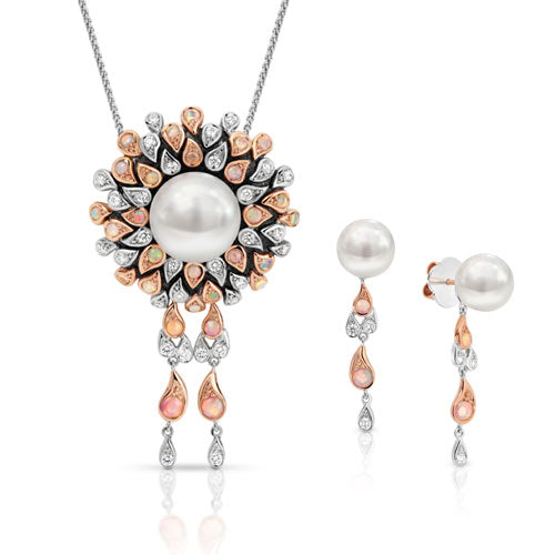 2017 JAA Awards South Sea Pearl & Opal 18ct Gold Pendant & Earring Collection