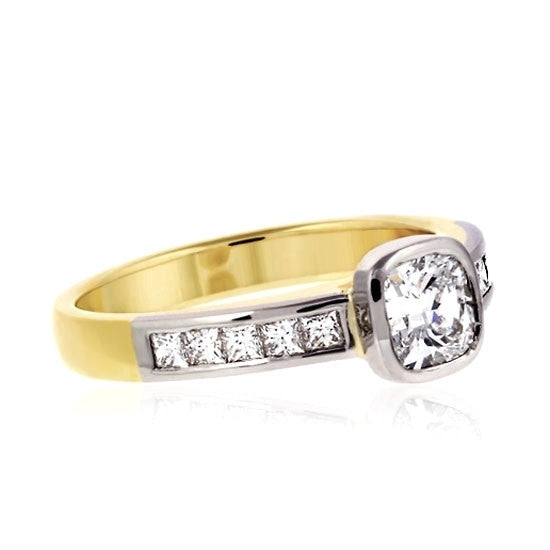 18ct Gold Cushion Diamond Ring