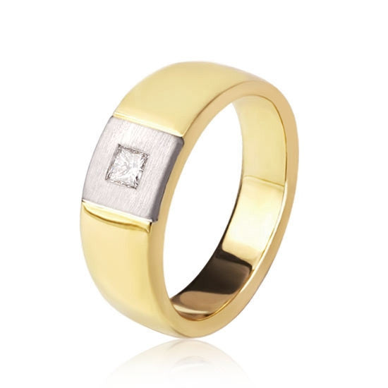18ct Gold Princess Solitaire Ring