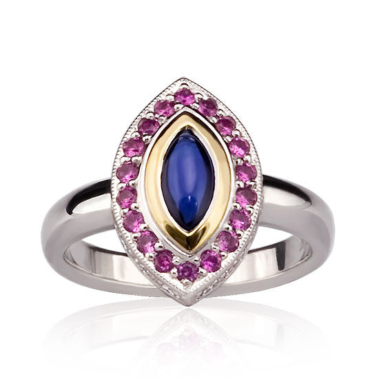 White Gold Coloured Sapphire Ring