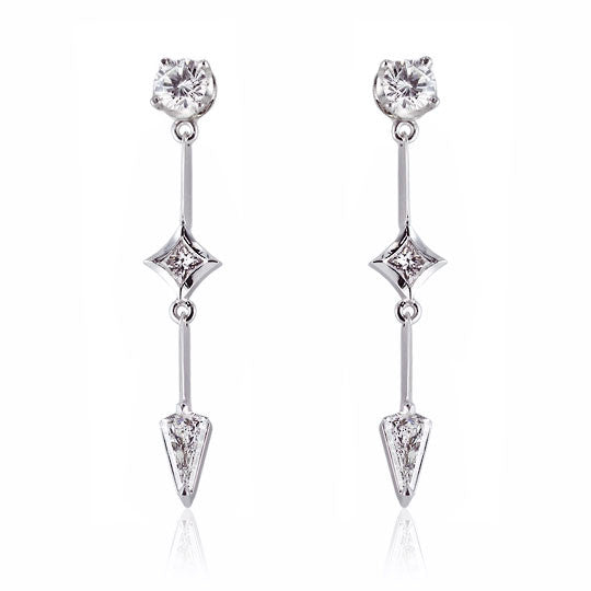 Diamond & White Gold Drop Earrings