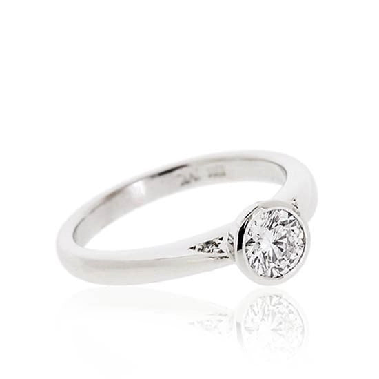 White Gold Brilliant Solitaire Diamond Ring