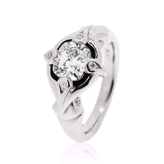Platinum Cushion Diamond Ring