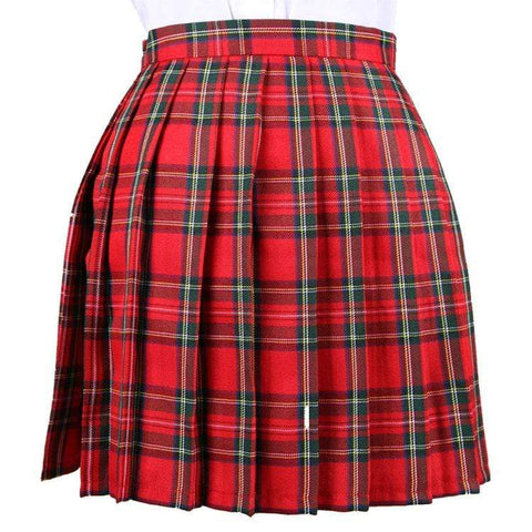 RED AND GREEN TENNIS SKIRT