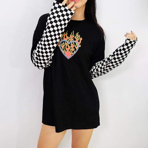 HEART ON FIRE LONG SLEEVE