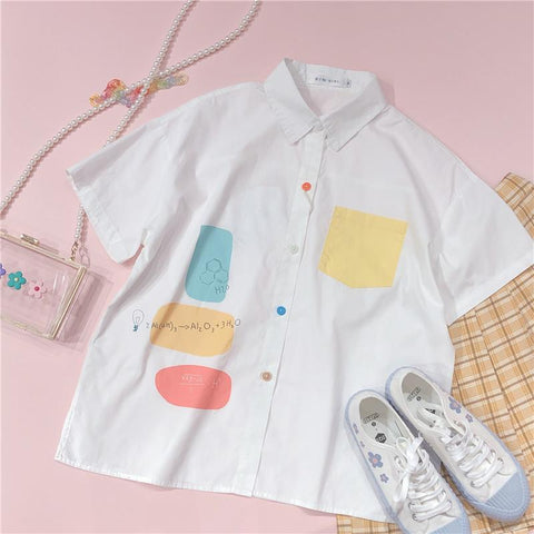 CHILDISH COLORBLOCK POCKET SHIRT