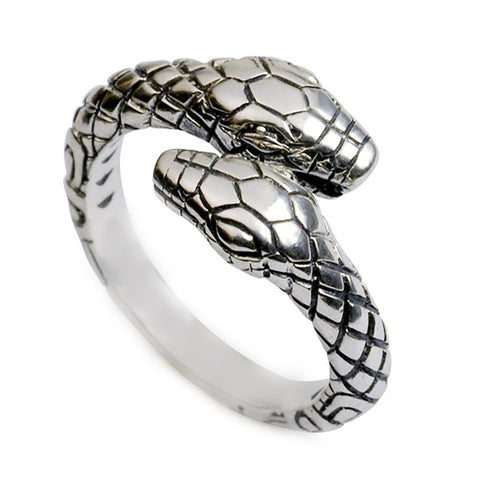 DOUBLE-HEADED SNAKE OPEN RING